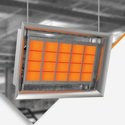 eco seramik radyant büyük alan cami fabrika ısıtma sistemleri